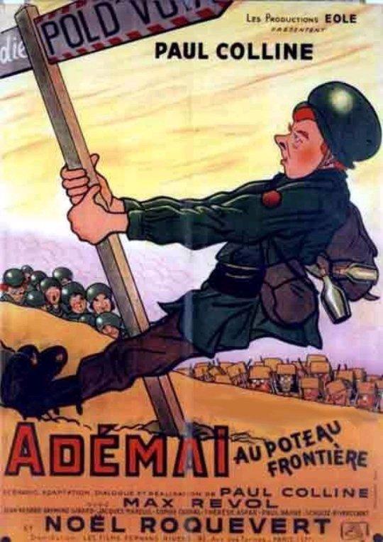 Affiche Adémai au poteau frontière