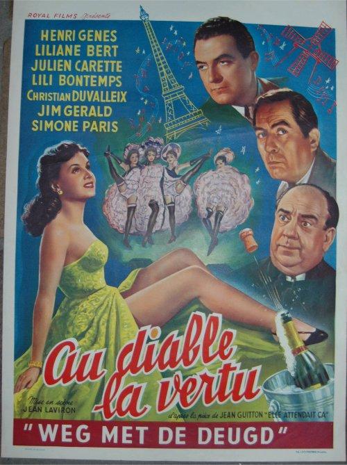 Affiche belge Au diable la vertu