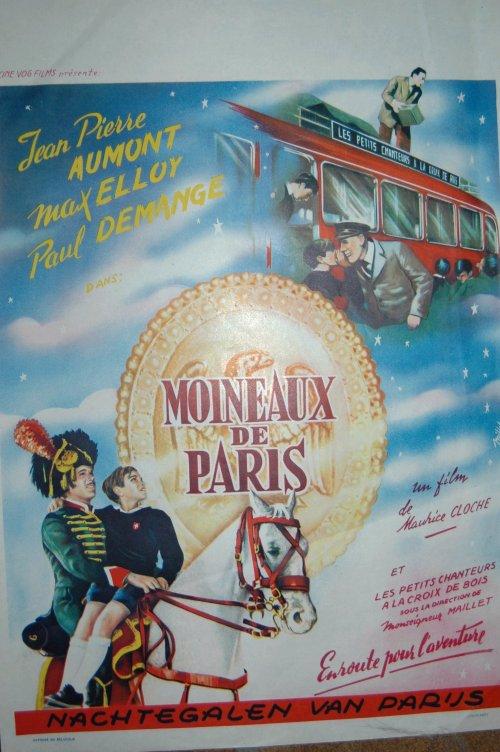 Affiche belge Moineaux de Paris