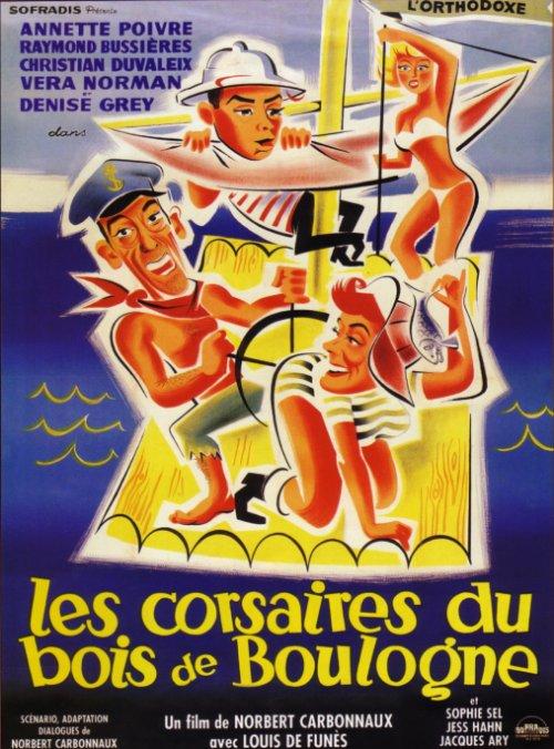 Affiche Les corsaires du Bois de Boulogne