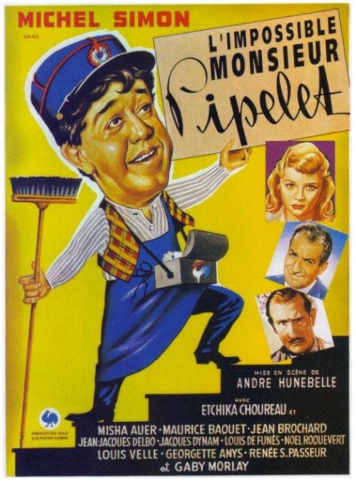 Affiche L'impossible Monsieur Pipelet