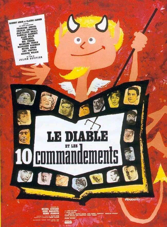 Affiche Le diable et les 10 commandements