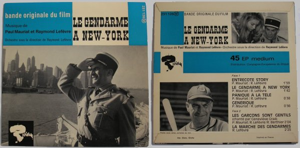 45 tours Le gendarme à New York