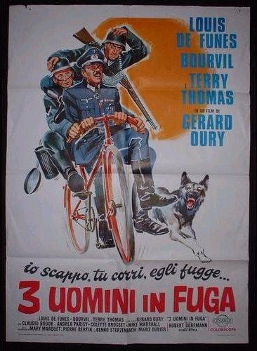 3 Uomini in Fuga, Affiche italienne La Grande Vadrouille