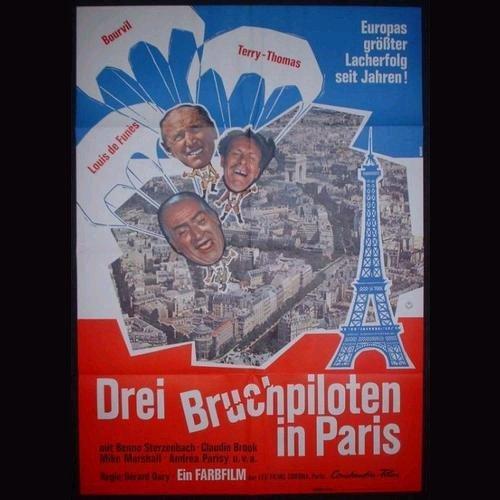 Drei Bruchpiloten in Paris, affiche allemande La Grande Vadrouille