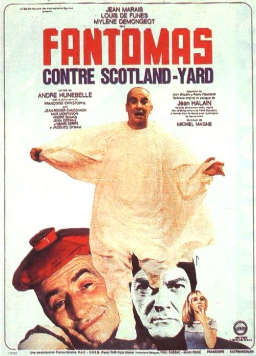 Affiche Fantomas contre Scotland Yard