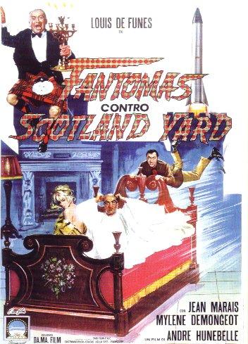 Fantomas contro Scotland-Yard, affiche italienne