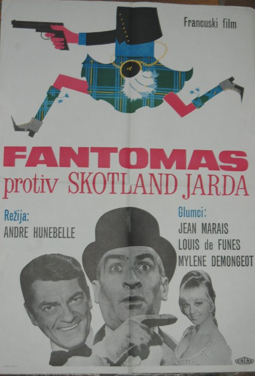 Fantomas protiv Skotland Jarda, Affiche tchèque