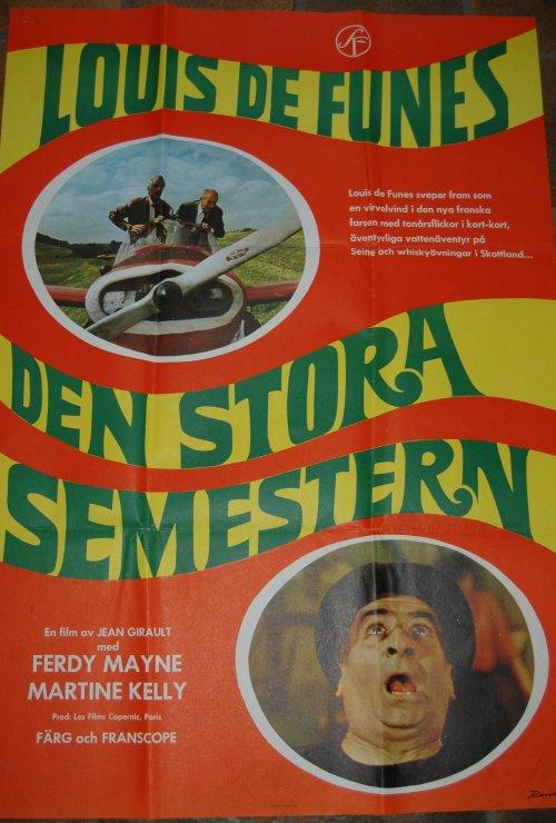 Den Stora Semestern, Affiche suédoise Les Grandes Vacances