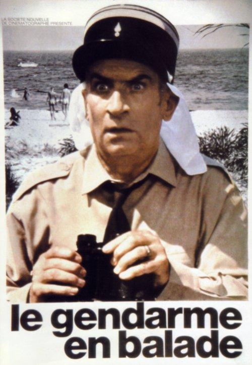 Affichette Le gendarme en balade
