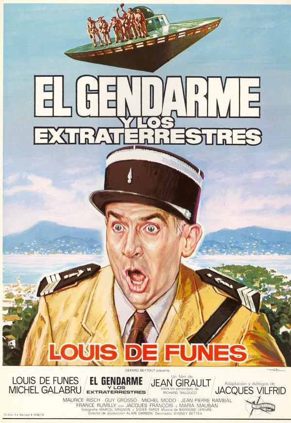 El gendarme y los extraterrestres, Affiche espagnole